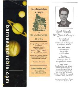Peter Hall and B&N Bookmark 001