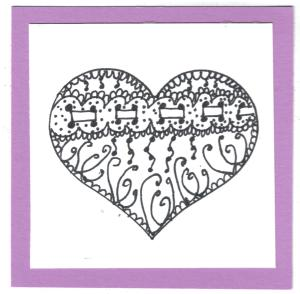 heart zentangle from Lake Villa IL (Illinois) 001