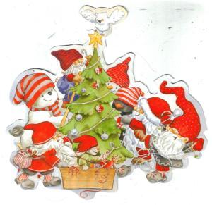 shaped Christmas postcard 001