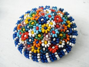 french beaded brooch